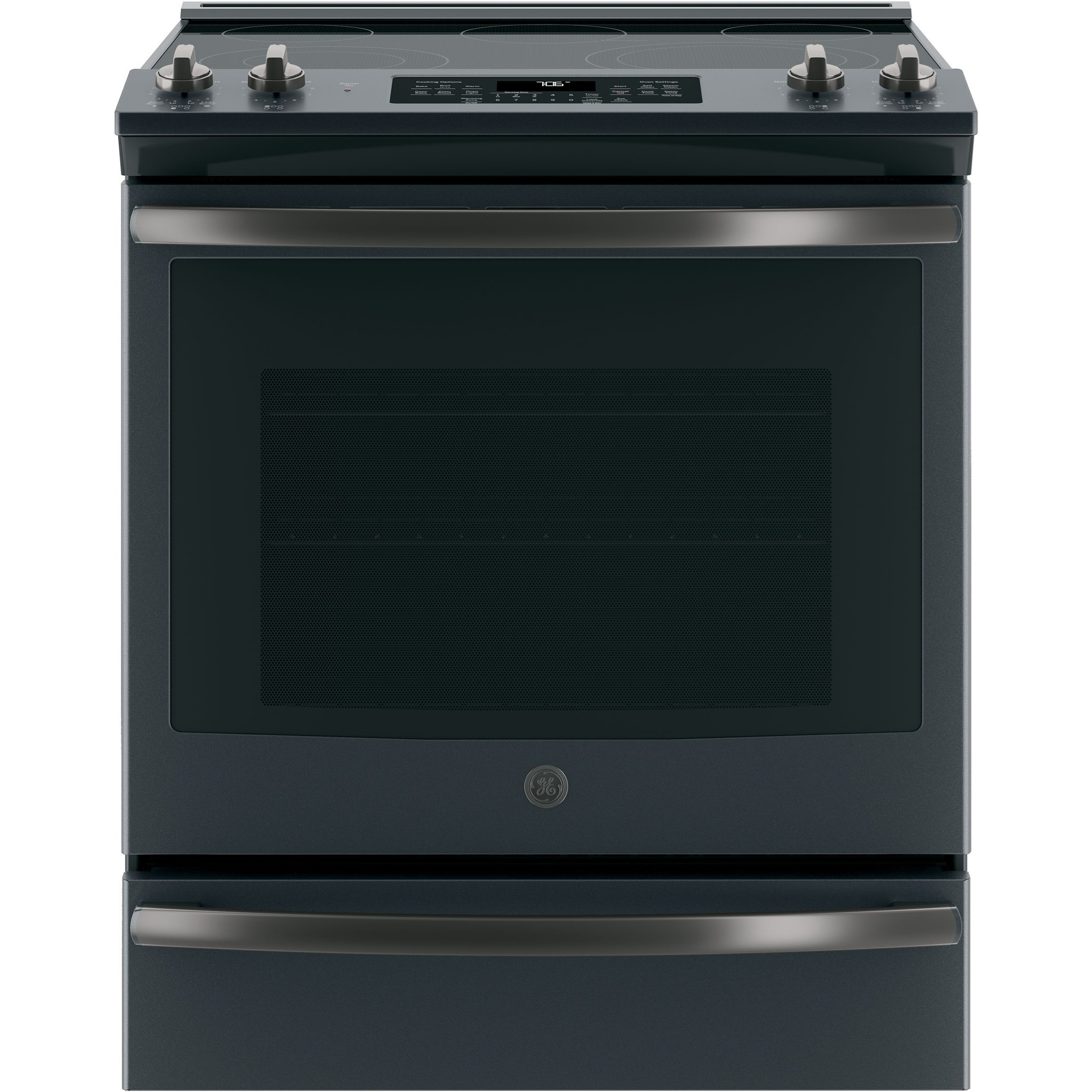 "GE Electric Ranges 5.3 Cu. Ft. 30"" Slide-In Electric Range by GE Appliances at VanDrie Home Furnishings"