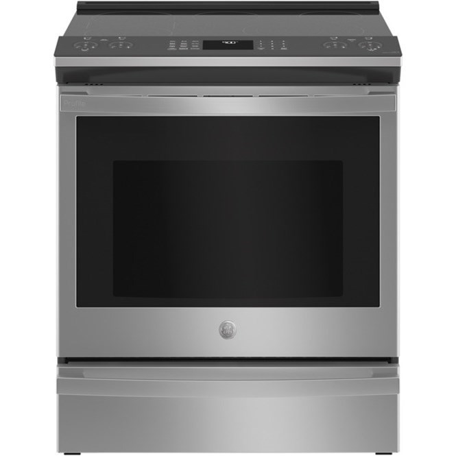 "GE Electric Ranges GE Profile™ 30"" Smart Slide-In Electric Rang by GE Appliances at VanDrie Home Furnishings"