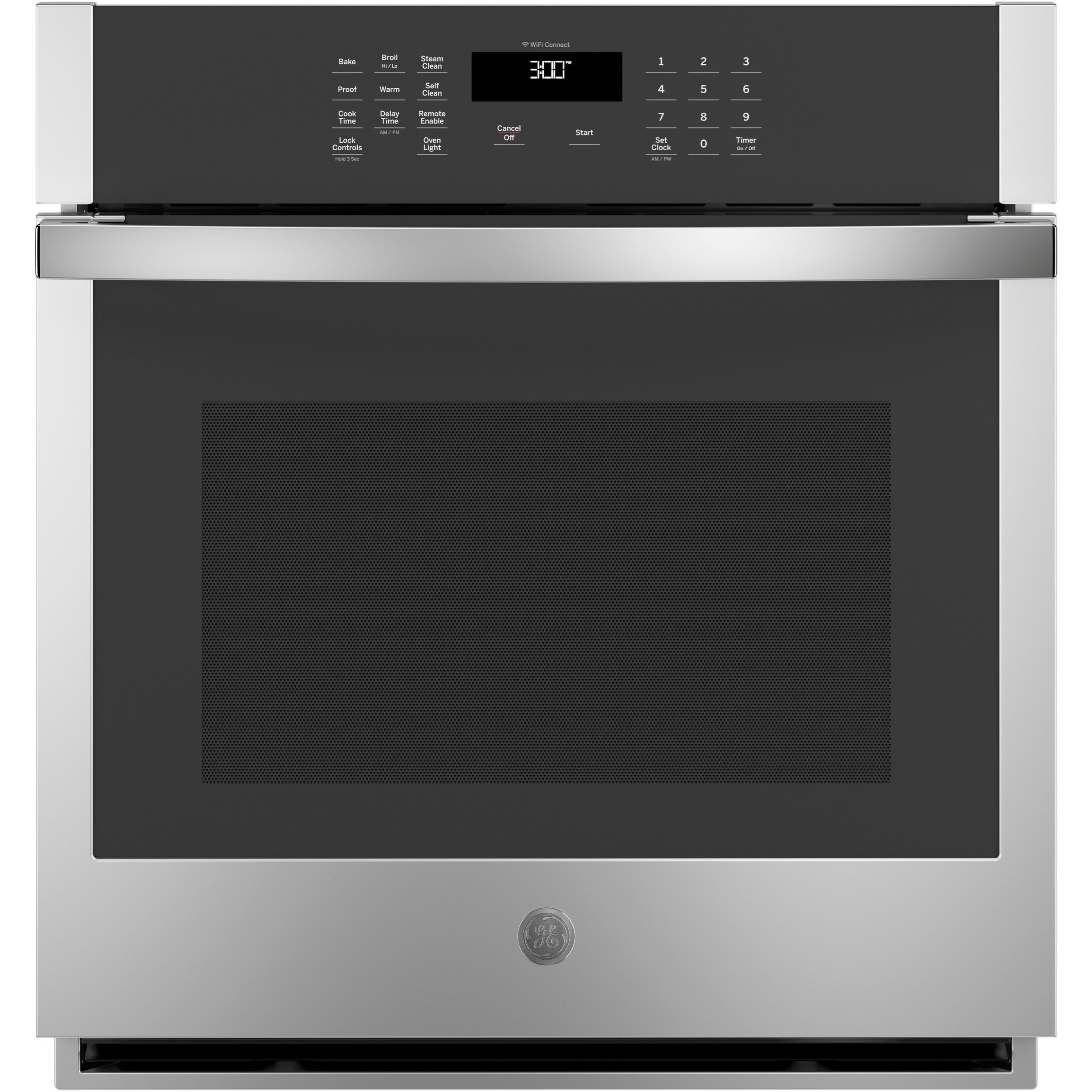 """Electric Wall Oven 4.3 Cu. Ft. 27"""" Smart Built-In Single Oven by GE Appliances at Furniture and ApplianceMart"""