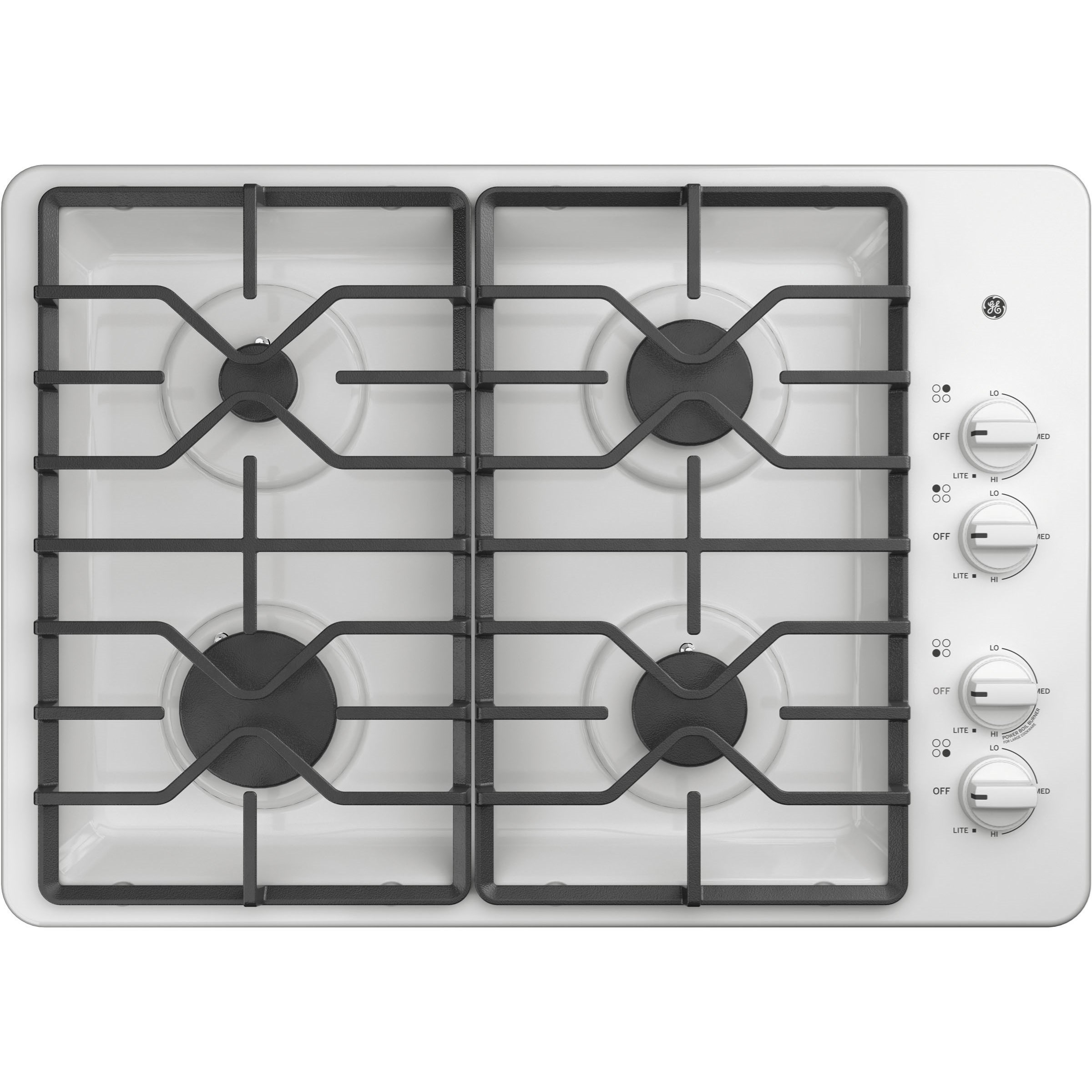 "Gas Cooktops GE® 30"" Built-In Gas Cooktop by GE Appliances at VanDrie Home Furnishings"