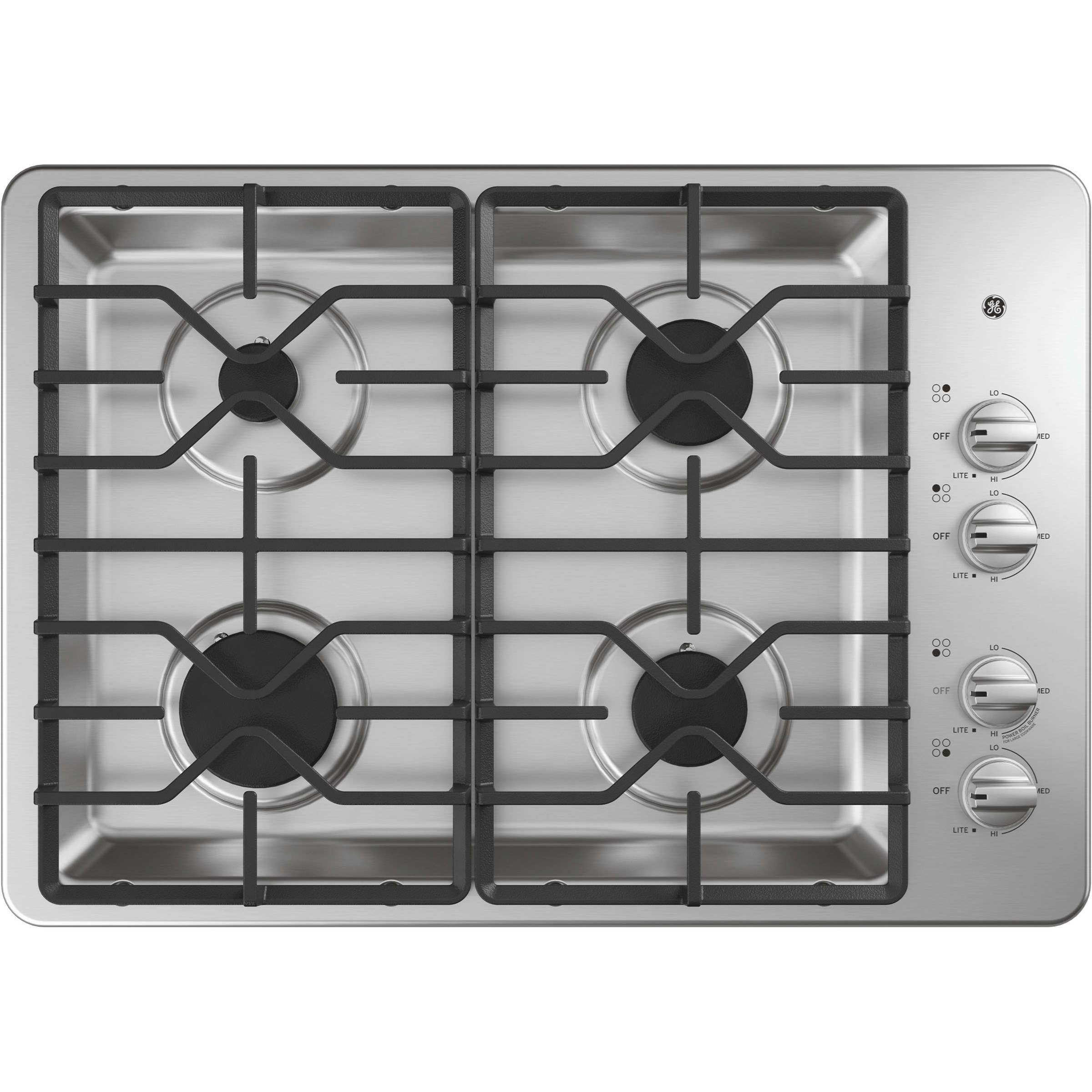 "Gas Cooktops GE® 30"" Built-In Gas Cooktop by GE Appliances at Westrich Furniture & Appliances"