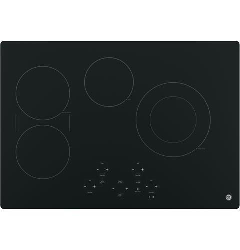 """GE Electric Cooktops 30"""" Touch Control Electric Cooktop by GE Appliances at Fisher Home Furnishings"""