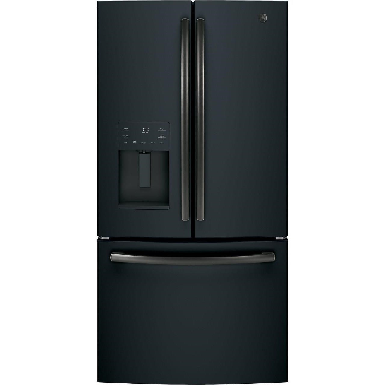 GE French Door Refrigerators GE® ENERGY STAR® 25.6 Cu. Ft. French-Door Re by GE Appliances at Furniture and ApplianceMart