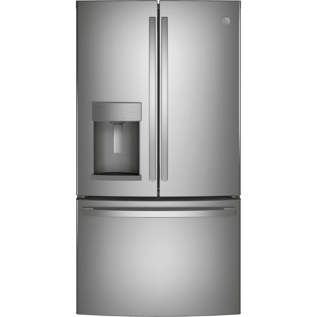 GE French Door Refrigerators GE® ENERGY STAR® 27.7 Cu. Ft. French-Door Re by GE Appliances at Furniture and ApplianceMart
