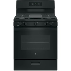 """30"""" Free-Standing Gas Range with Non-Stick Griddle"""