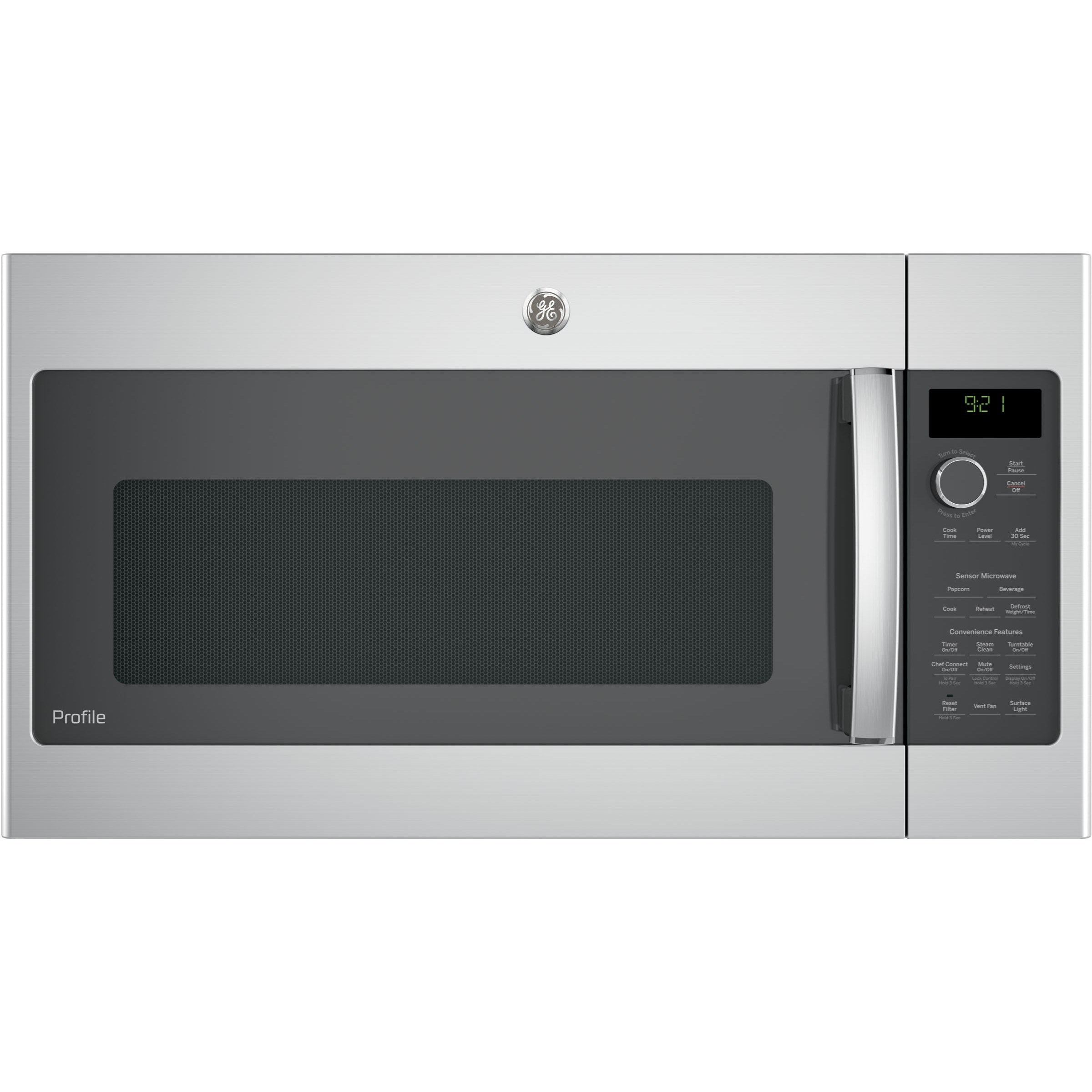 GE Microwaves Profile™ 2.1 Cu.Ft. Over-the-Range Microwave by GE Appliances at Furniture and ApplianceMart