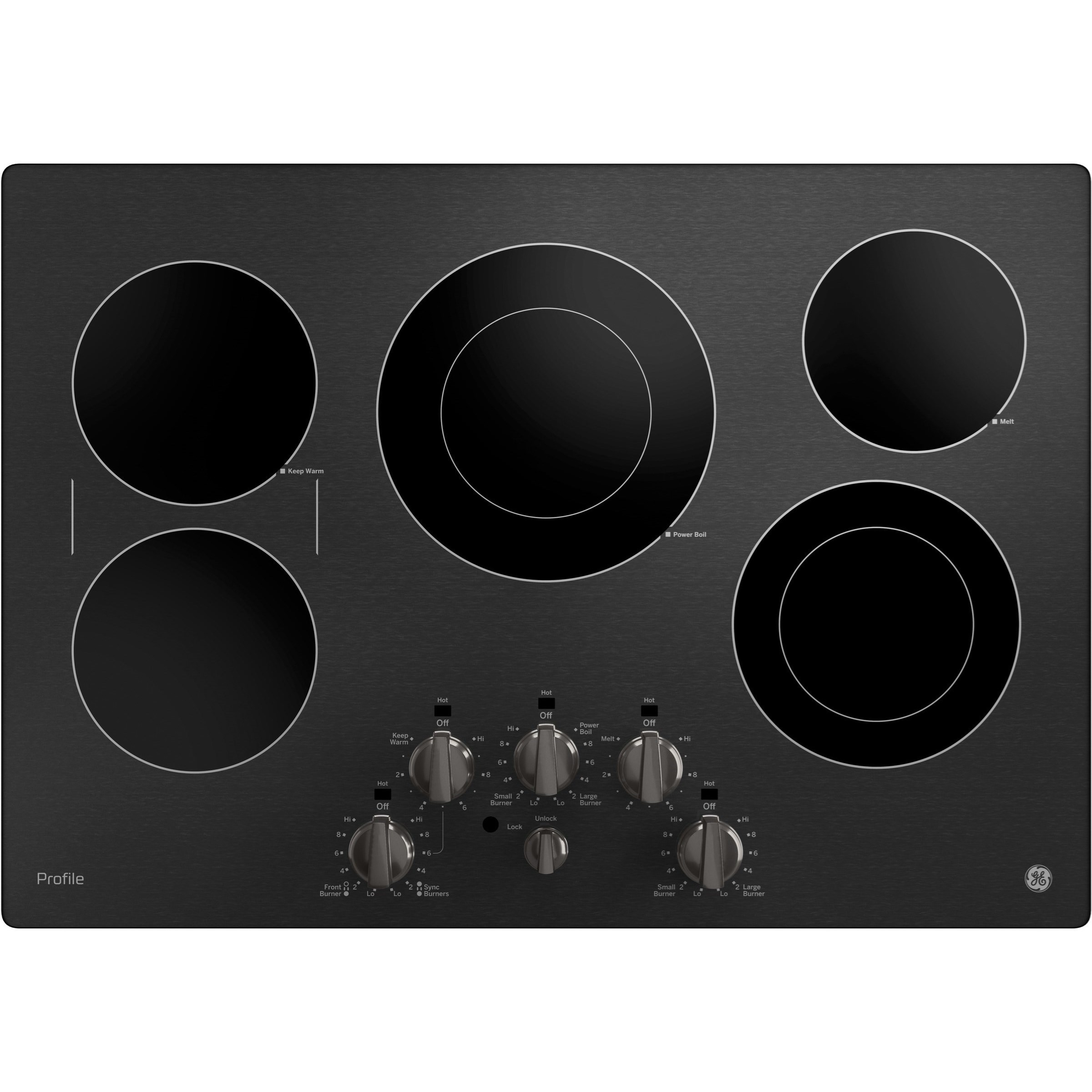 """GE Profile Electric Cooktops Profile™ Series 30"""" Cooktop by GE Appliances at Furniture and ApplianceMart"""