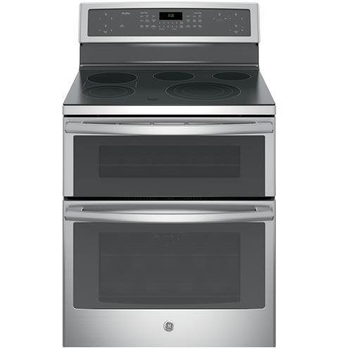 "GE Profile Electric Ranges Profile™ 30"" Electric Convection Range by GE Appliances at Furniture and ApplianceMart"