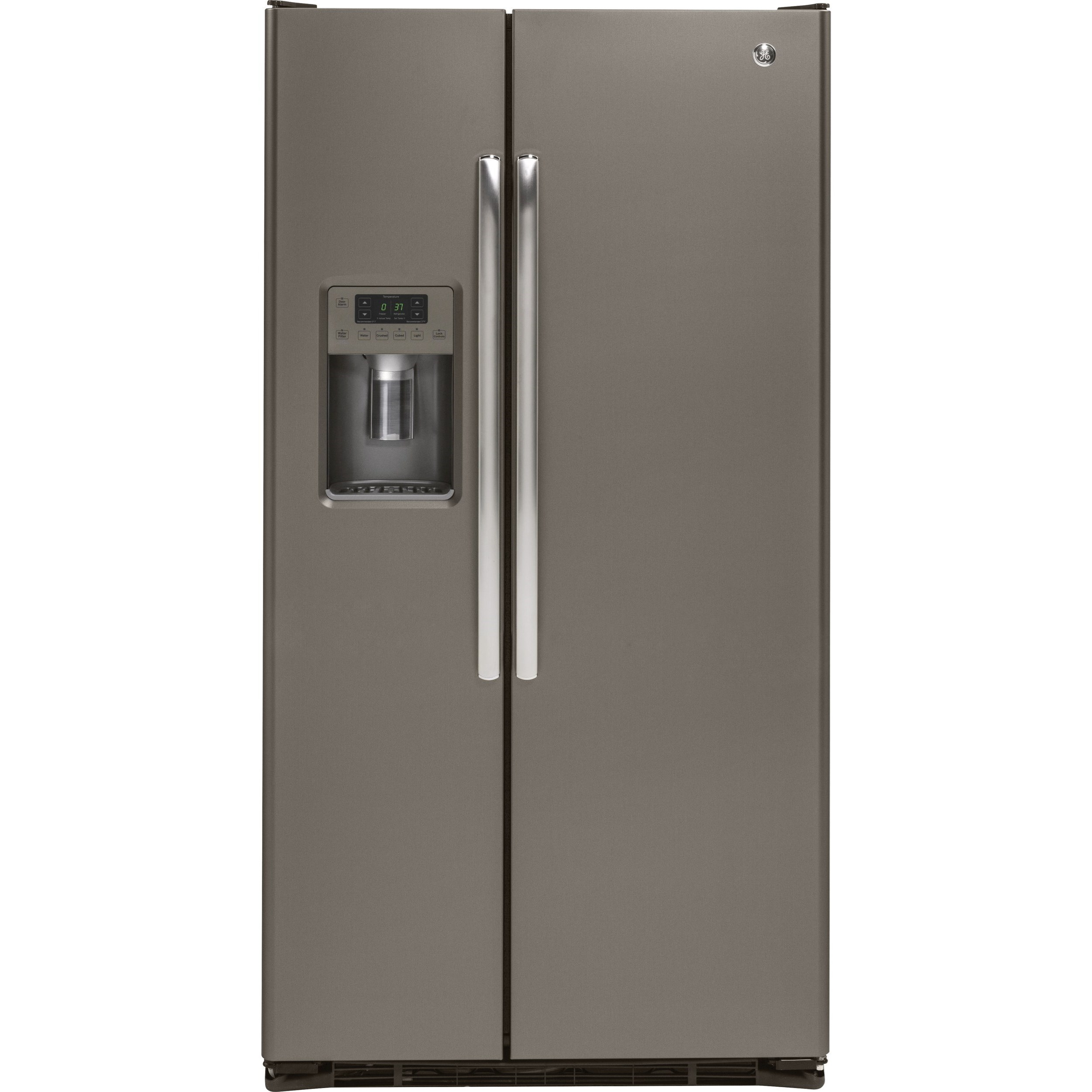 GE Series Side-By-Side Refrigerators GE 21.9 Cu. Ft.Counter-Depth Refrigerator by GE Appliances at Furniture and ApplianceMart