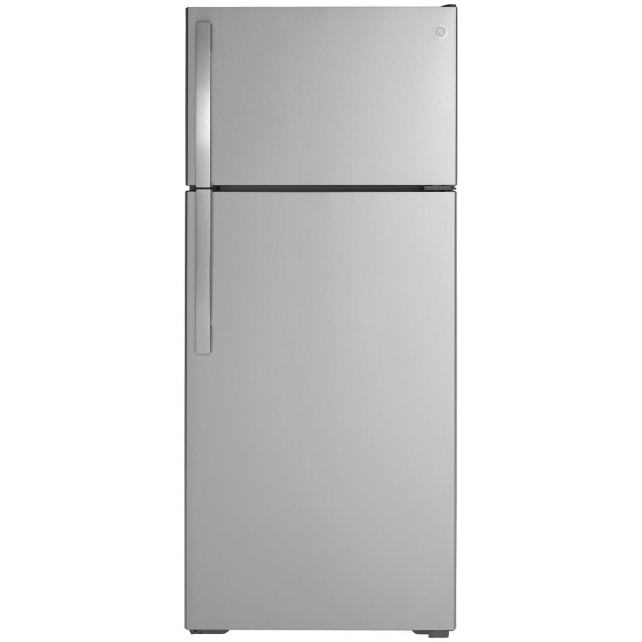 GE Top-Freezer Refrigerators GE® ENERGY STAR® 17.5 Cu. Ft. Top-Freezer Re by GE Appliances at Furniture and ApplianceMart