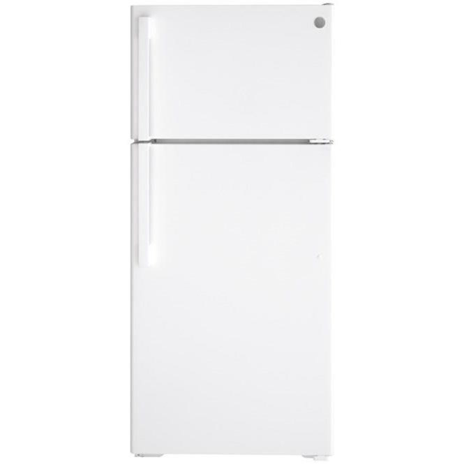 GE Top-Freezer Refrigerators GE® ENERGY STAR® 16.6 Cu. Ft. Top-Freezer Re by GE Appliances at Furniture and ApplianceMart