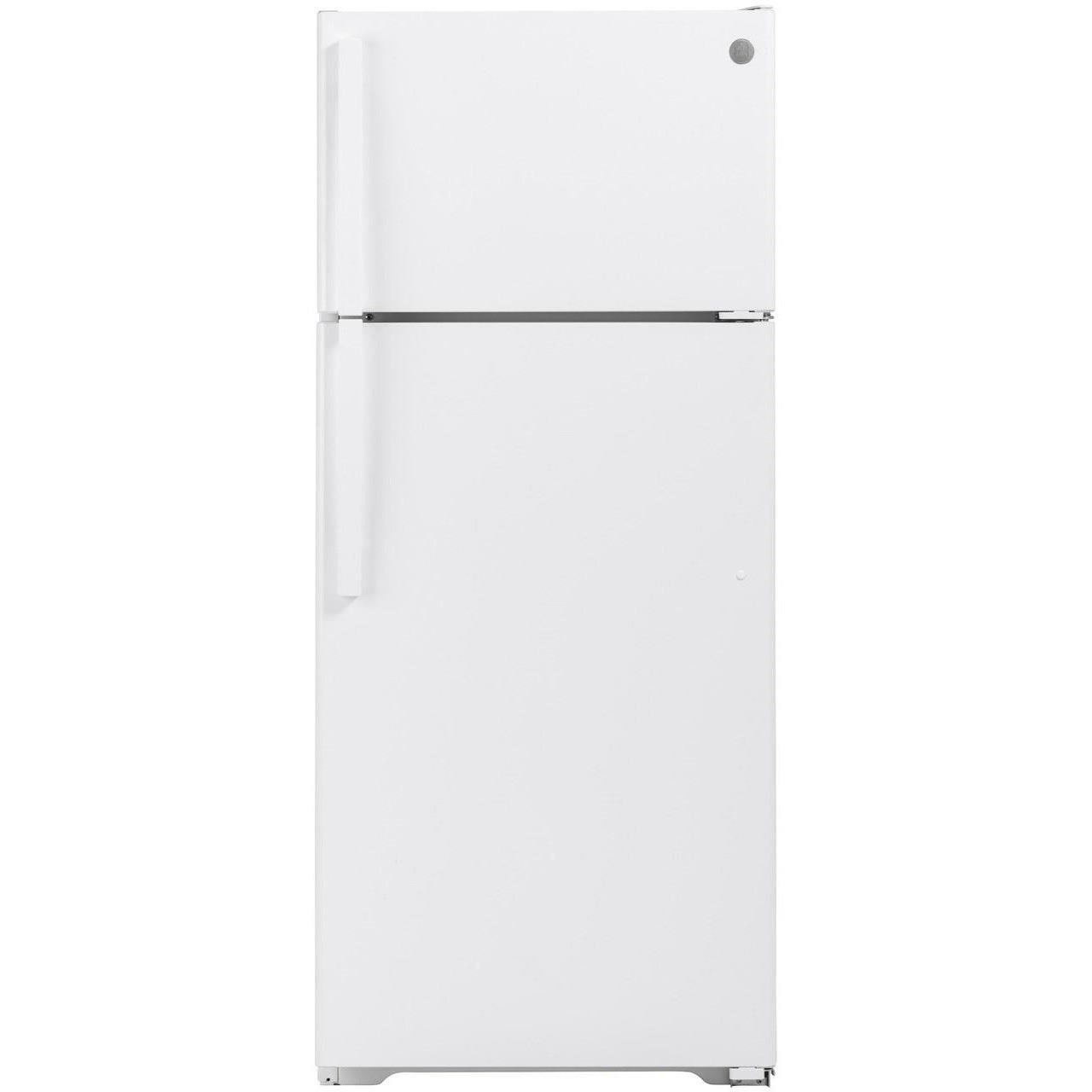 GE Top-Freezer Refrigerators GE® 17.5 Cu. Ft. Top-Freezer Refrigerator by GE Appliances at Furniture Fair - North Carolina