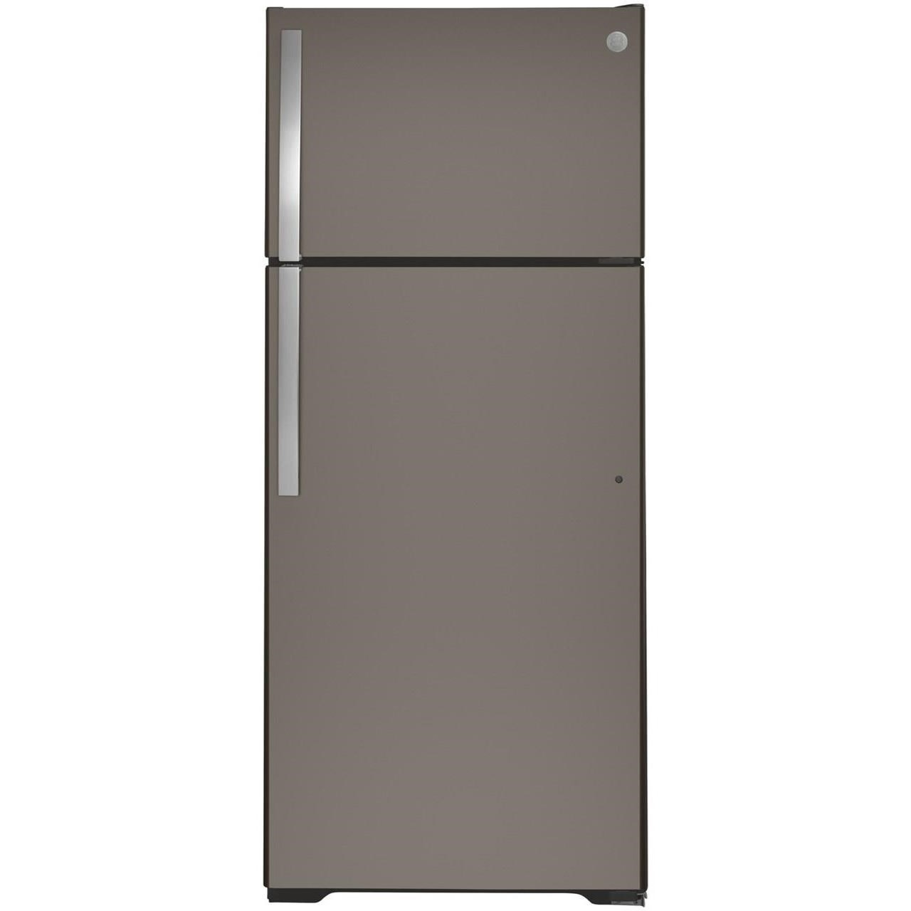 GE Top-Freezer Refrigerators GE® 17.5 Cu. Ft. Top-Freezer Refrigerator by GE Appliances at Westrich Furniture & Appliances