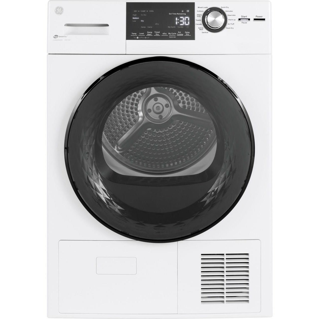 """Home Laundry GE® 24"""" 4.1 Cu.Ft. Front Load Electric Dryer by GE Appliances at Furniture and ApplianceMart"""