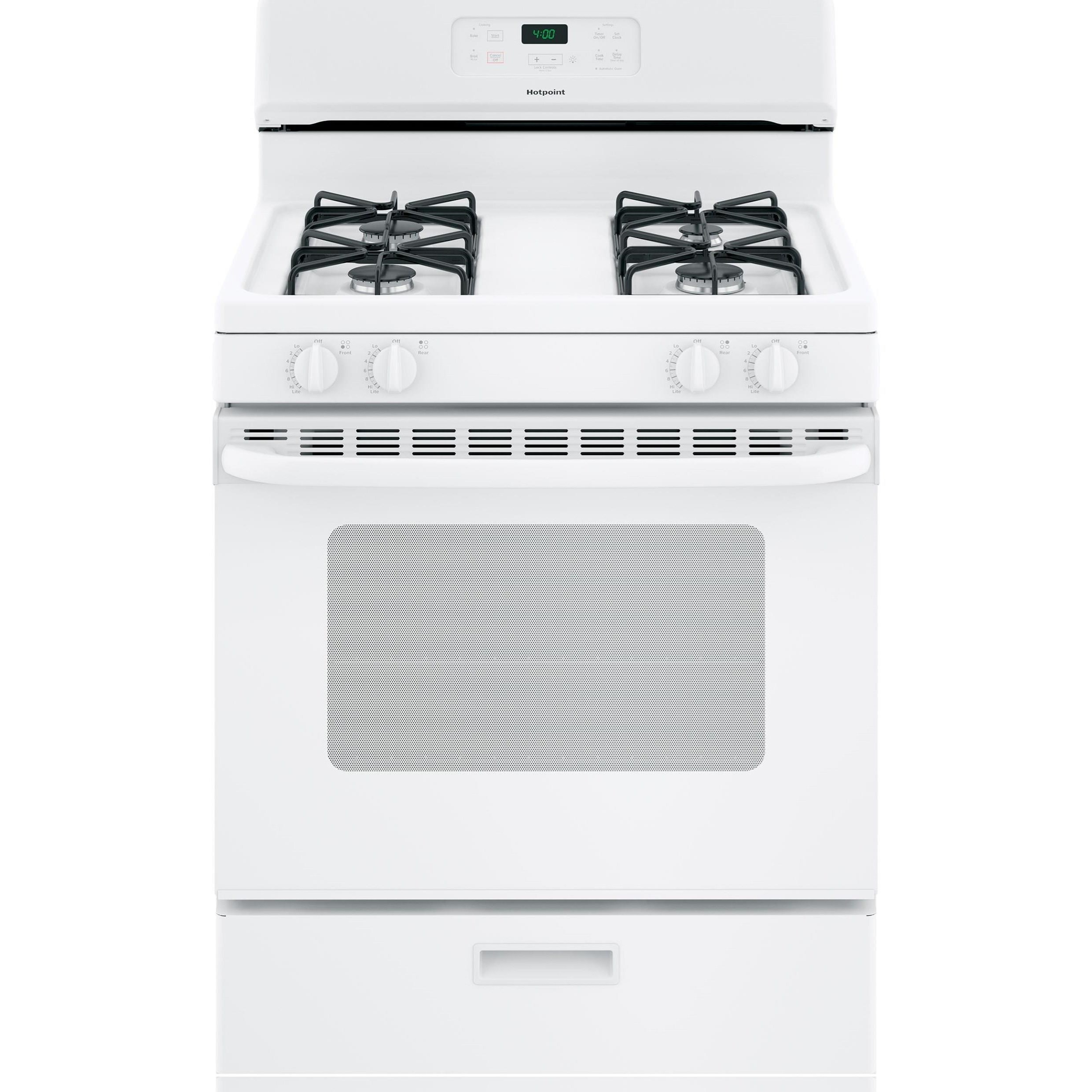 "Hotpoint Range Hotpoint® 30"" Free-Standing Gas Range by GE Appliances at VanDrie Home Furnishings"