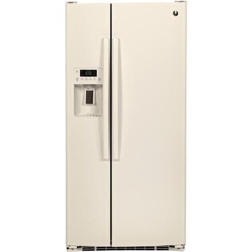 Side-By-Side Refrigerators 23.2 Cu. Ft. Side-By-Side Refrigerator by GE Appliances at Furniture and ApplianceMart