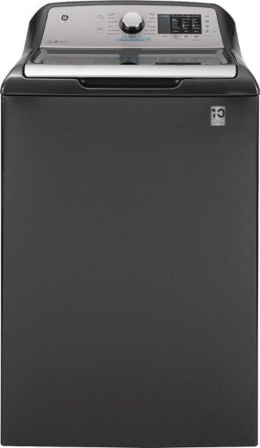 TOP LOAD WASHER -GREY 4.6 DOE cu. ft. Stainless Steel Washer by GE Appliances at Furniture Fair - North Carolina