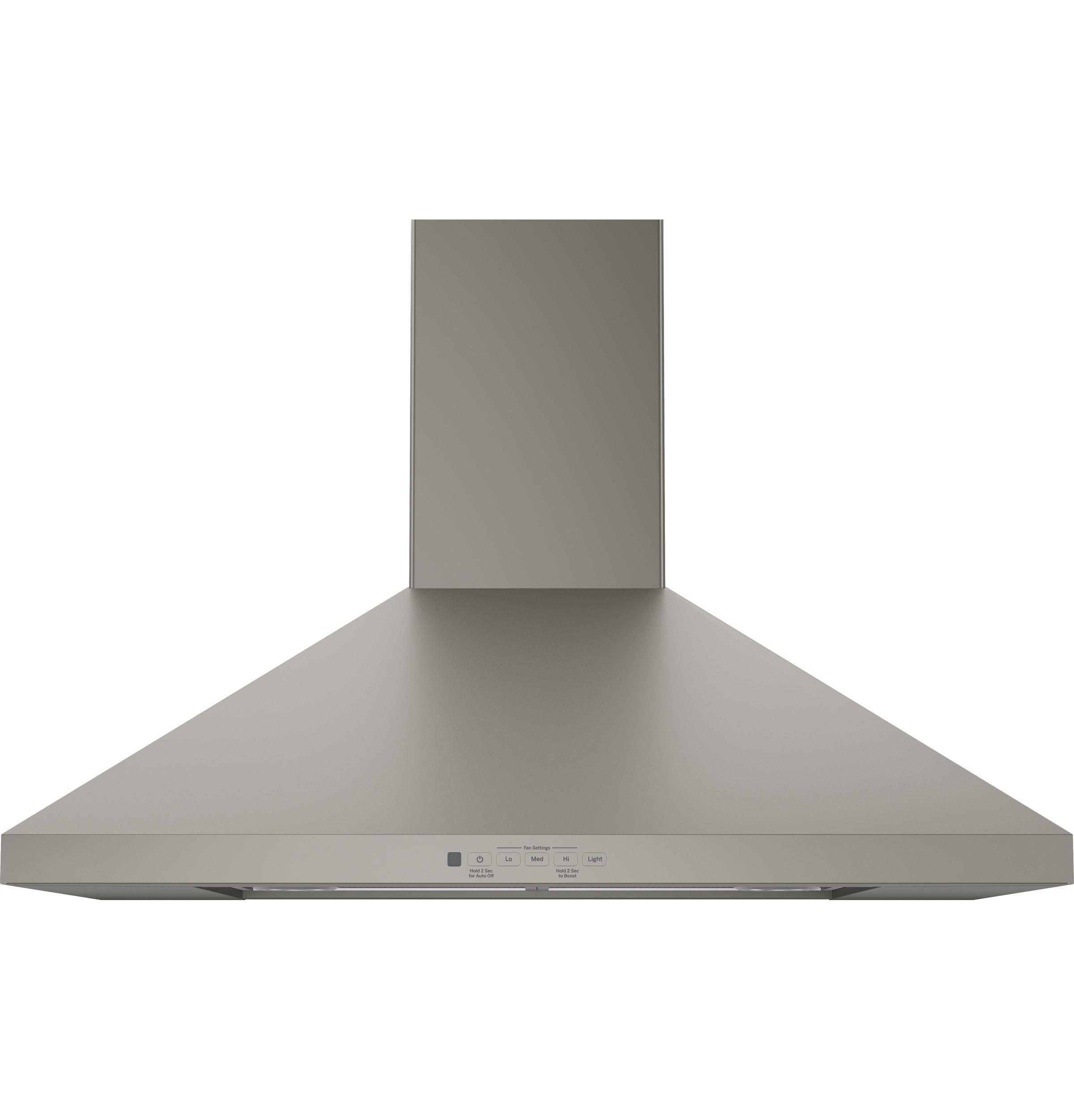 """Ventilation Hoods - GE GE 30"""" Wall-Mount Pyramid Chimney Hood by GE Appliances at Furniture and ApplianceMart"""