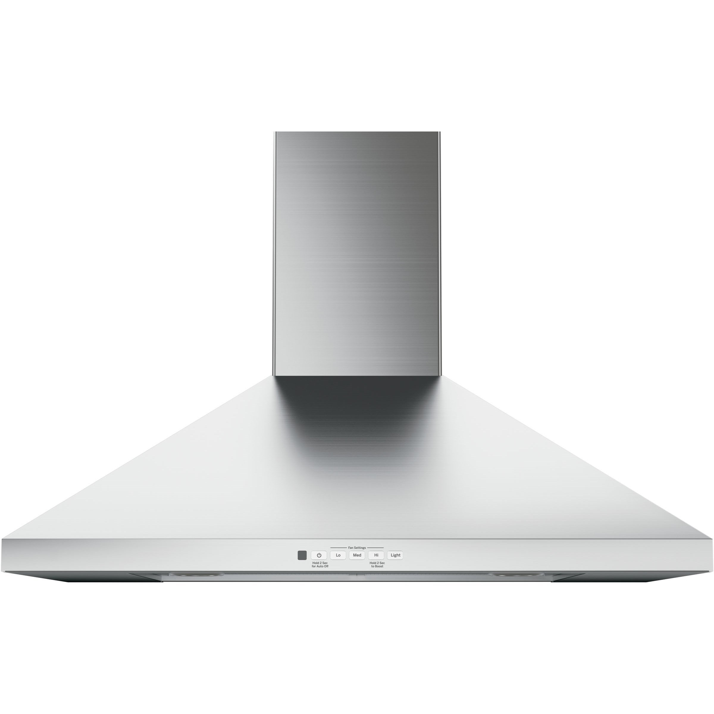 "Ventilation Hoods 30"" Wall-Mount Pyramid Chimney Hood by GE Appliances at Westrich Furniture & Appliances"