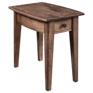 Customizable Rustic Chairside Table with Drawer