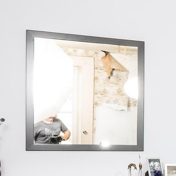 Sullivan Nickel Beveled Mirror by Glenmont Furniture at Saugerties Furniture Mart