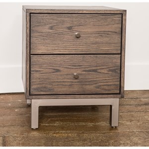 Customizable Contemporary  Nightstand with 2 Drawers
