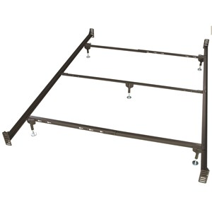 Twin/Full/QN Bed Frame with Headboard and Footboard Brackets