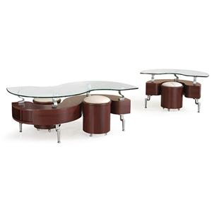 Global Furniture 288 Occasional Table and Stool Package