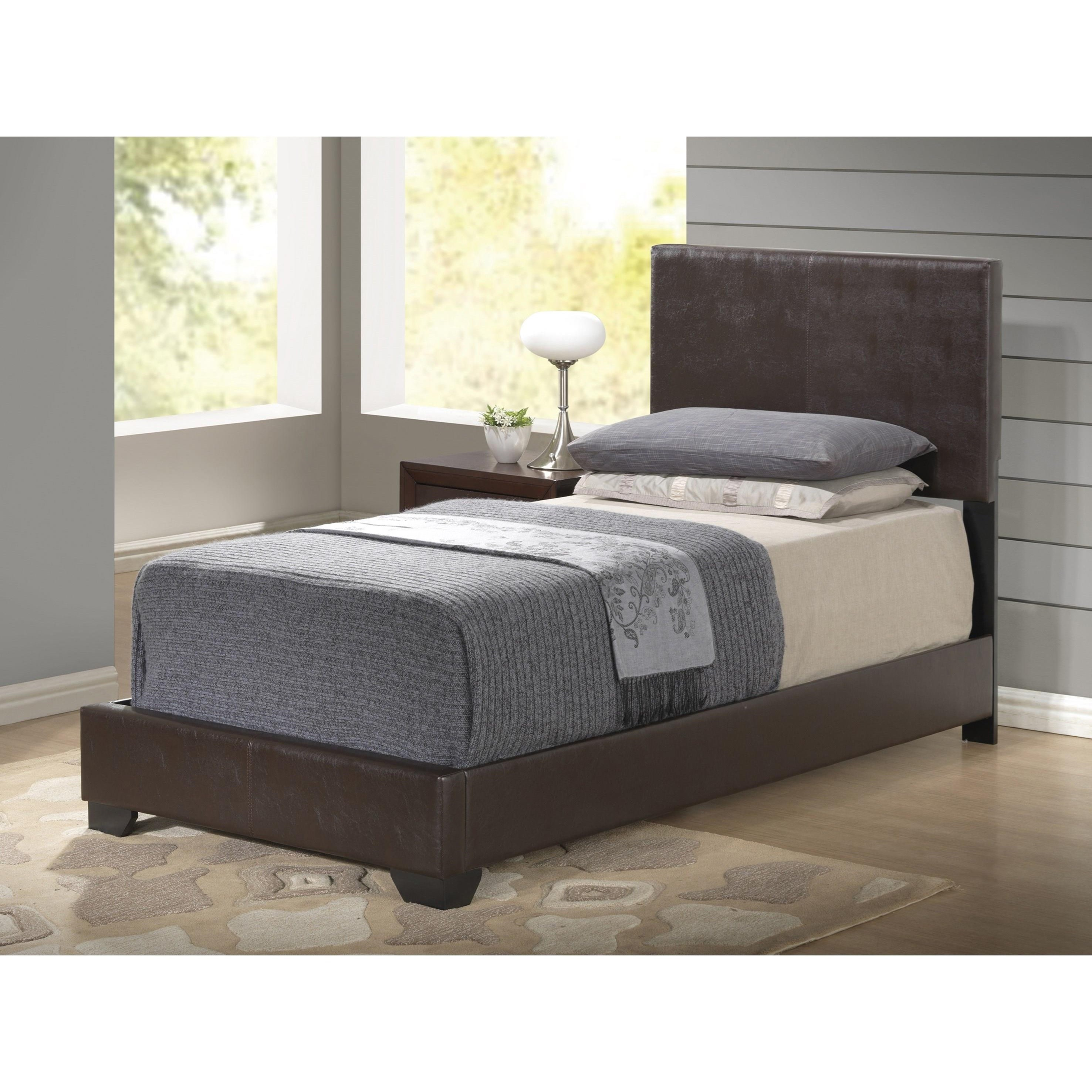 8103 Upholstered Twin Bed by Global Furniture at Nassau Furniture and Mattress