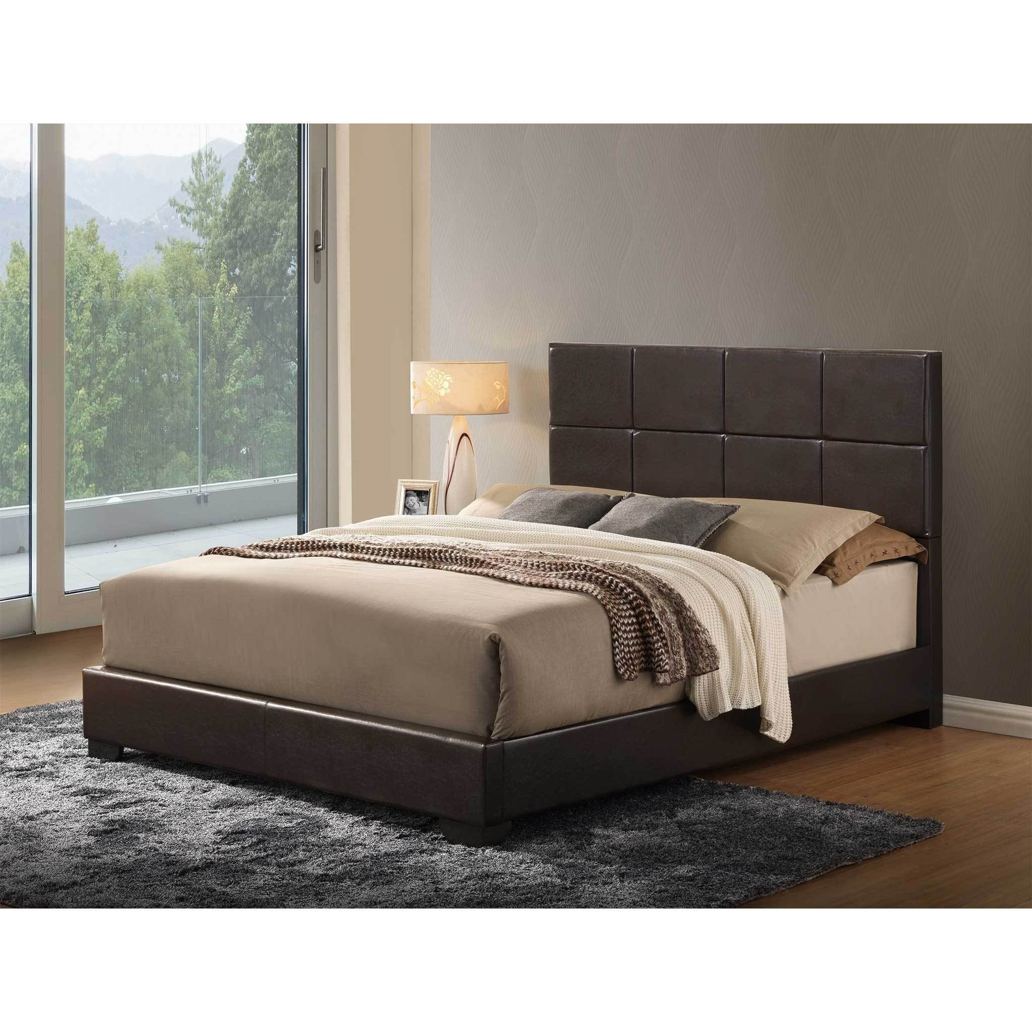 8566 Upholstered Twin Bed by Global Furniture at Nassau Furniture and Mattress