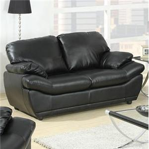 Contemporary Loveseat with Pillow-Top Arms
