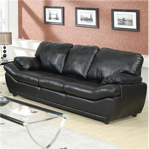 Contemporary Sofa with Pillow-Top Arms