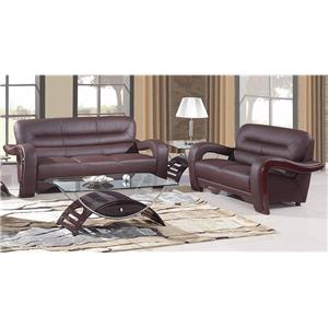 Global Furniture 992 2 Piece Living Room Group