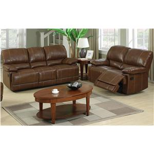 Global Furniture 9963 2 Piece Reclining Living Room Group