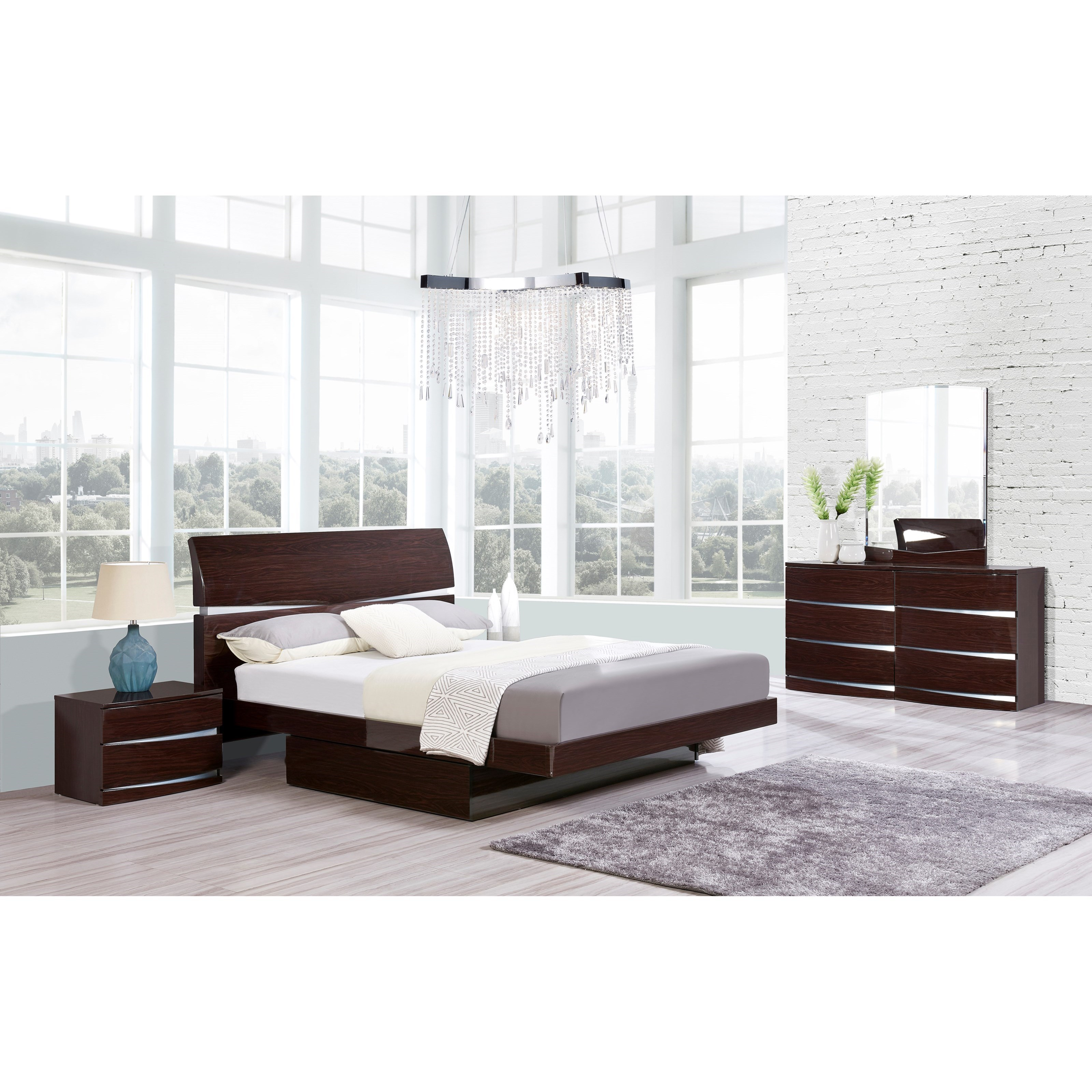 Aurora Queen Bedroom Group by Global Furniture at Nassau Furniture and Mattress