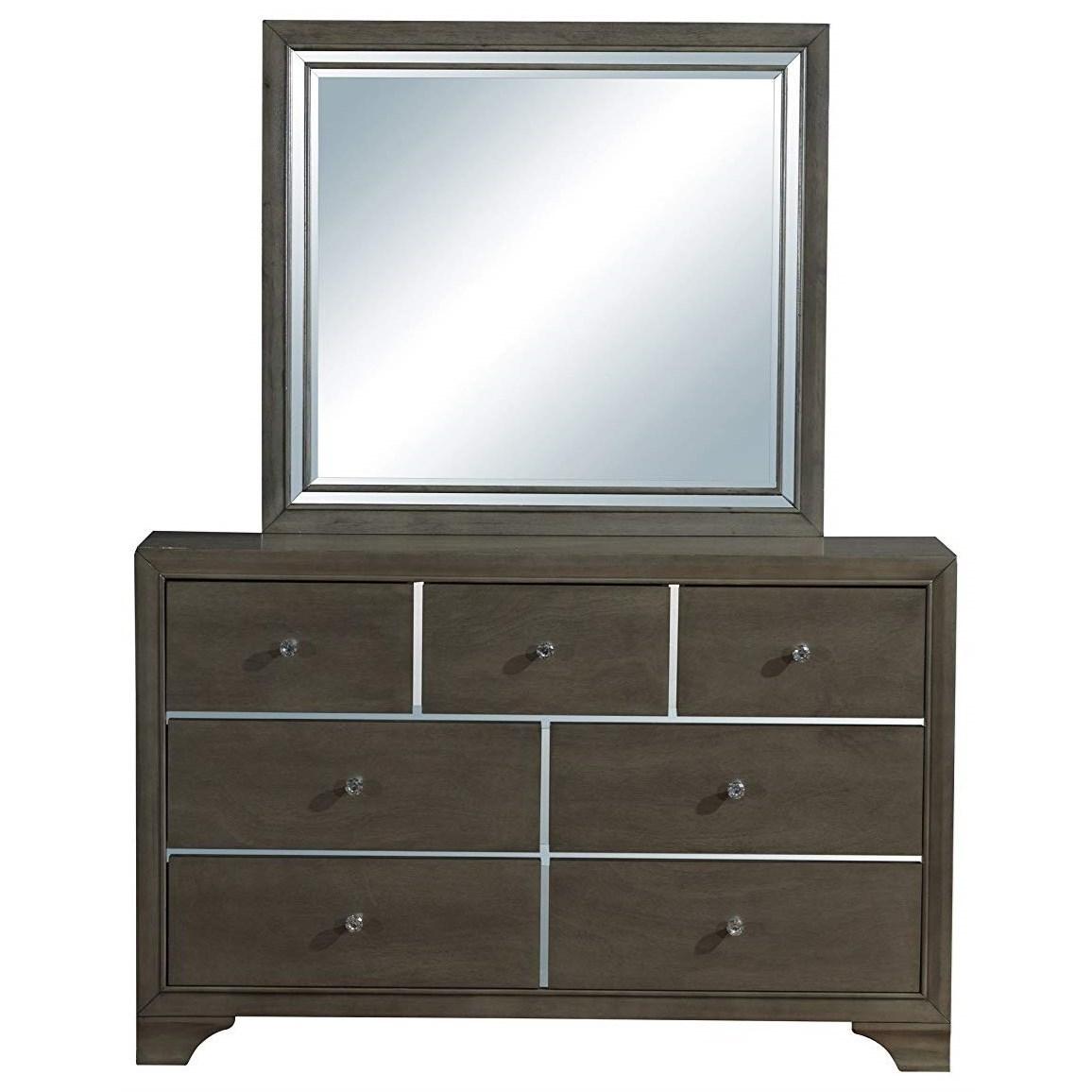 Cameron Dresser + Mirror Set by Global Furniture at Nassau Furniture and Mattress