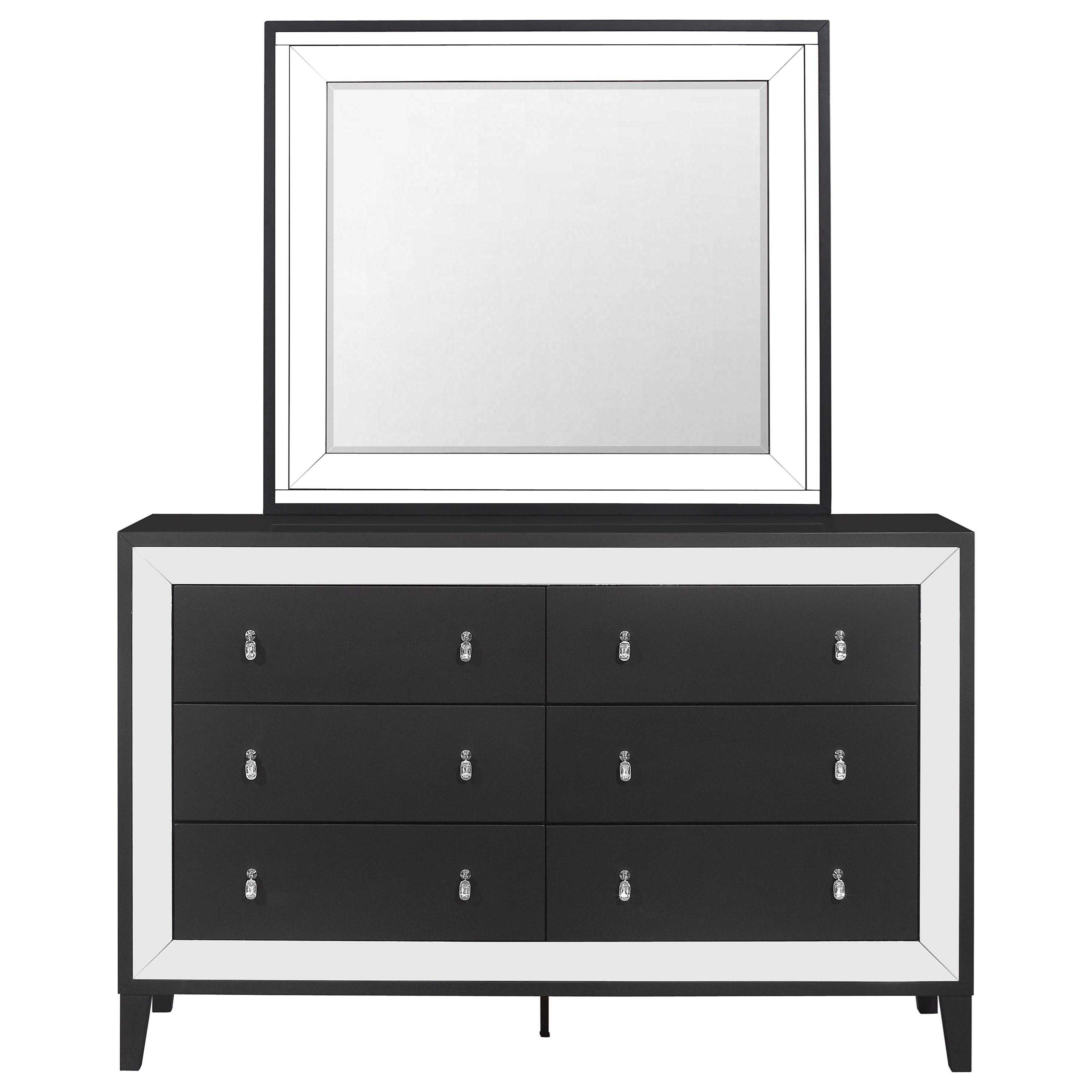 Catania Dresser and Mirror Set by Global Furniture at Nassau Furniture and Mattress