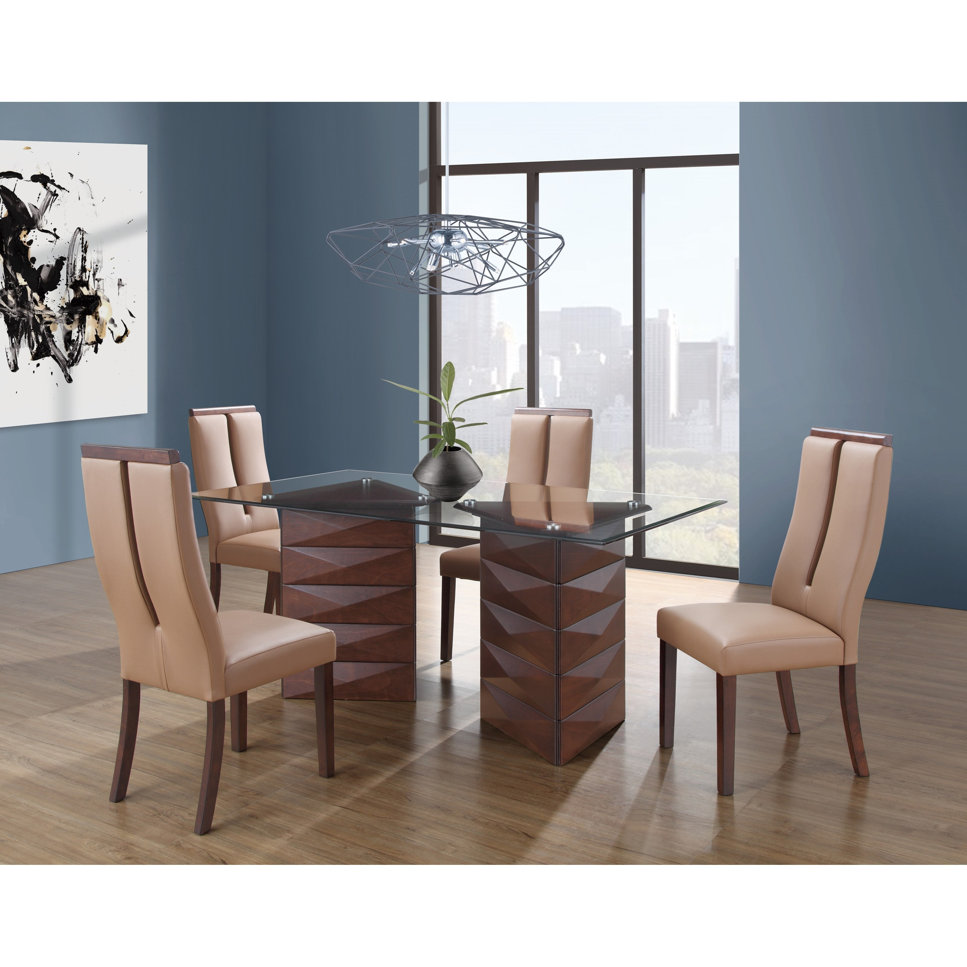 D3972 5 Piece Table and Chair Set by Global Furniture at Nassau Furniture and Mattress