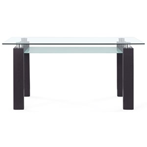 Contemporary Dining Table with Glass Top