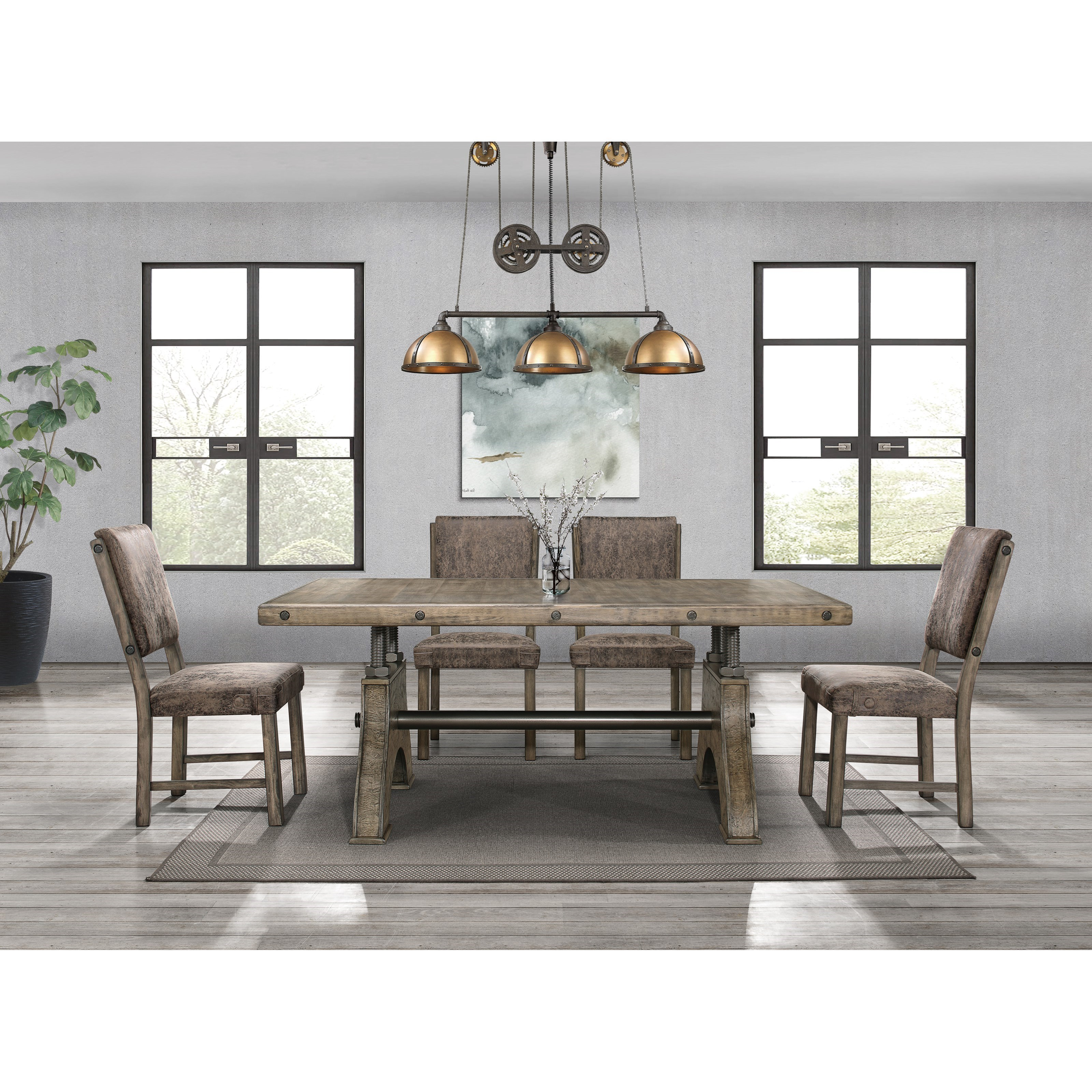D855 5 Piece Table and Chair Set by Global Furniture at Corner Furniture