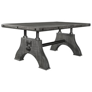 Rustic-Industrial Work Bench Style Dining Table