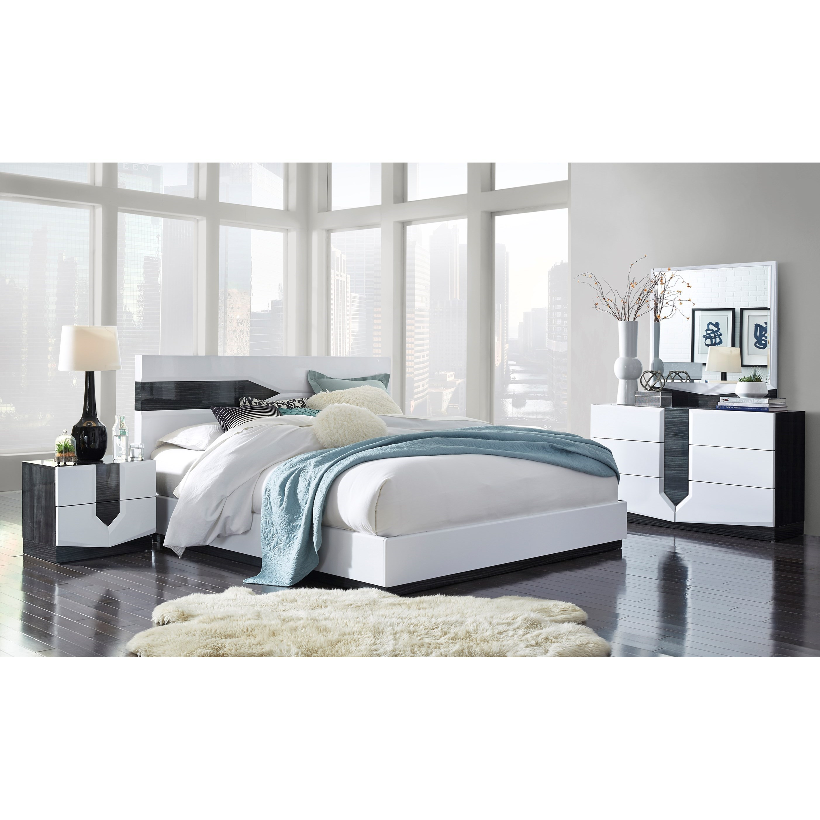 Hudson Queen Bedroom Group by Global Furniture at Nassau Furniture and Mattress