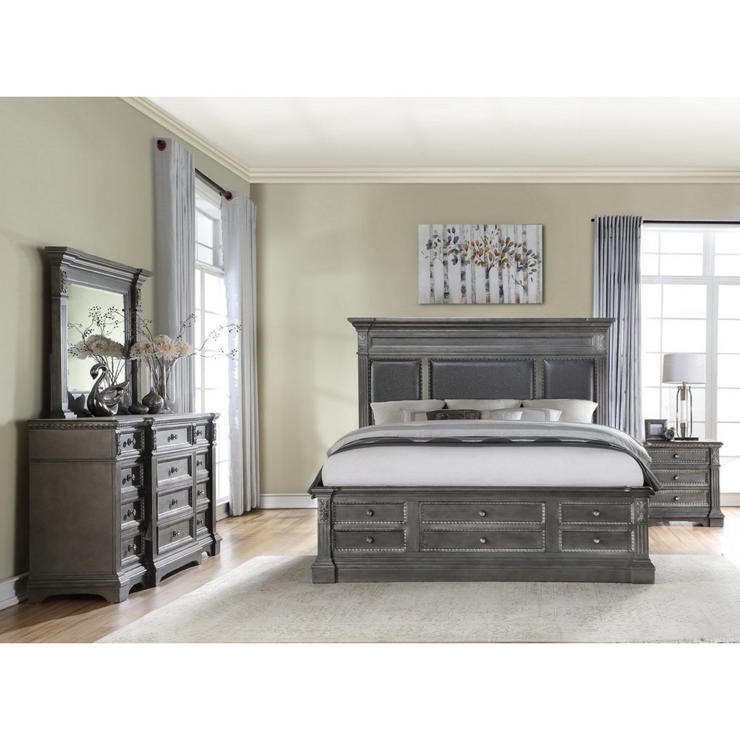 Marseille King Bedroom Group by Global Furniture at Nassau Furniture and Mattress