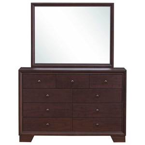 Casual 9 Drawer Dresser & Mirror Set