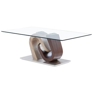 Ultra-Modern Coffee Table with Unique Pedestal