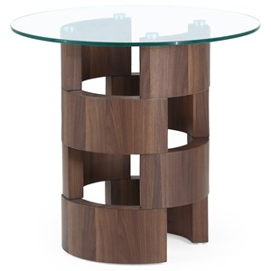 Art Deco Design End Table with Glass Top