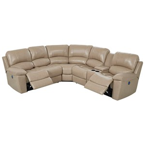 Reclining Sectional with Built-In USB