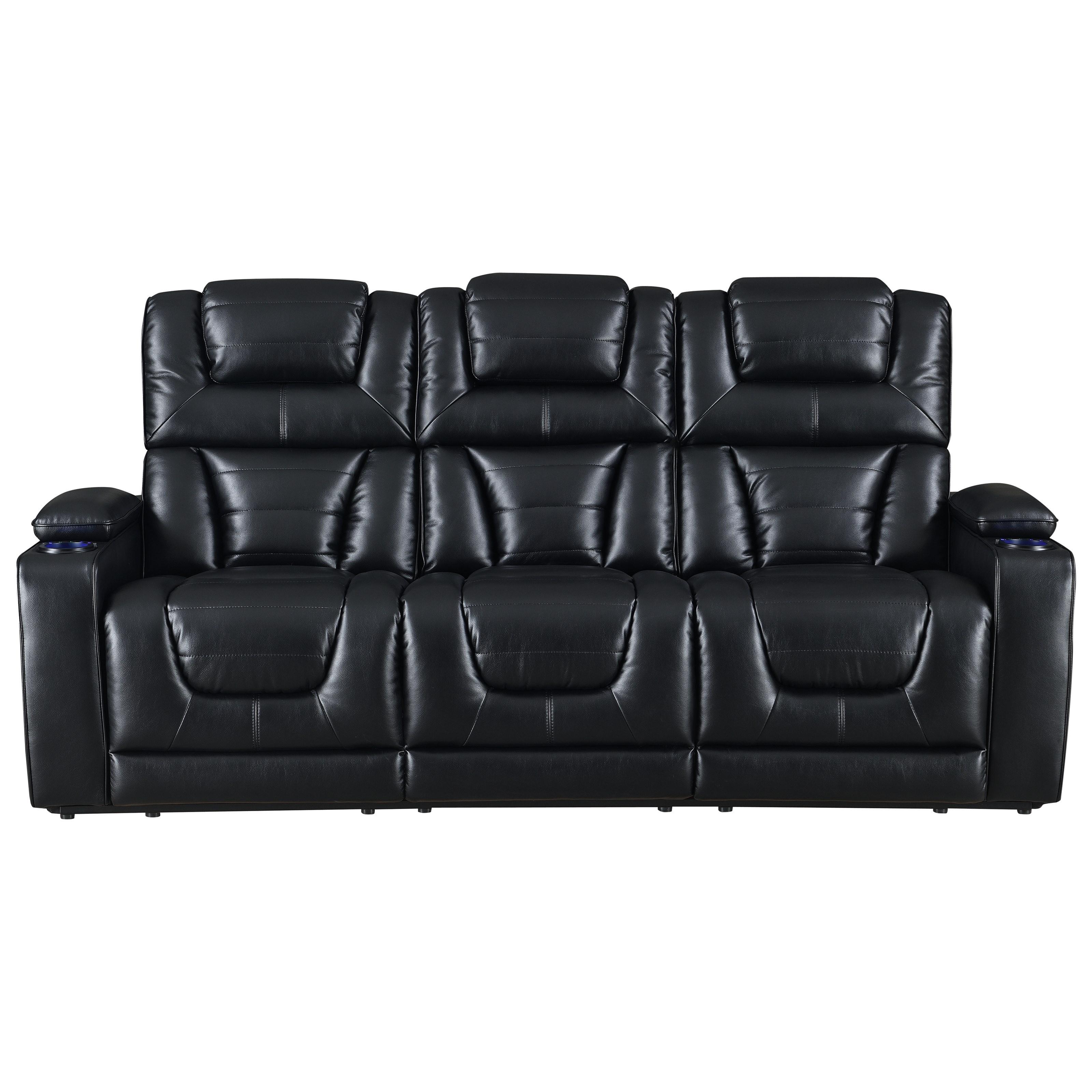 U1877 Pwr Recline Sofa w/ Pwr Head & DD Table by Global Furniture at Dream Home Interiors