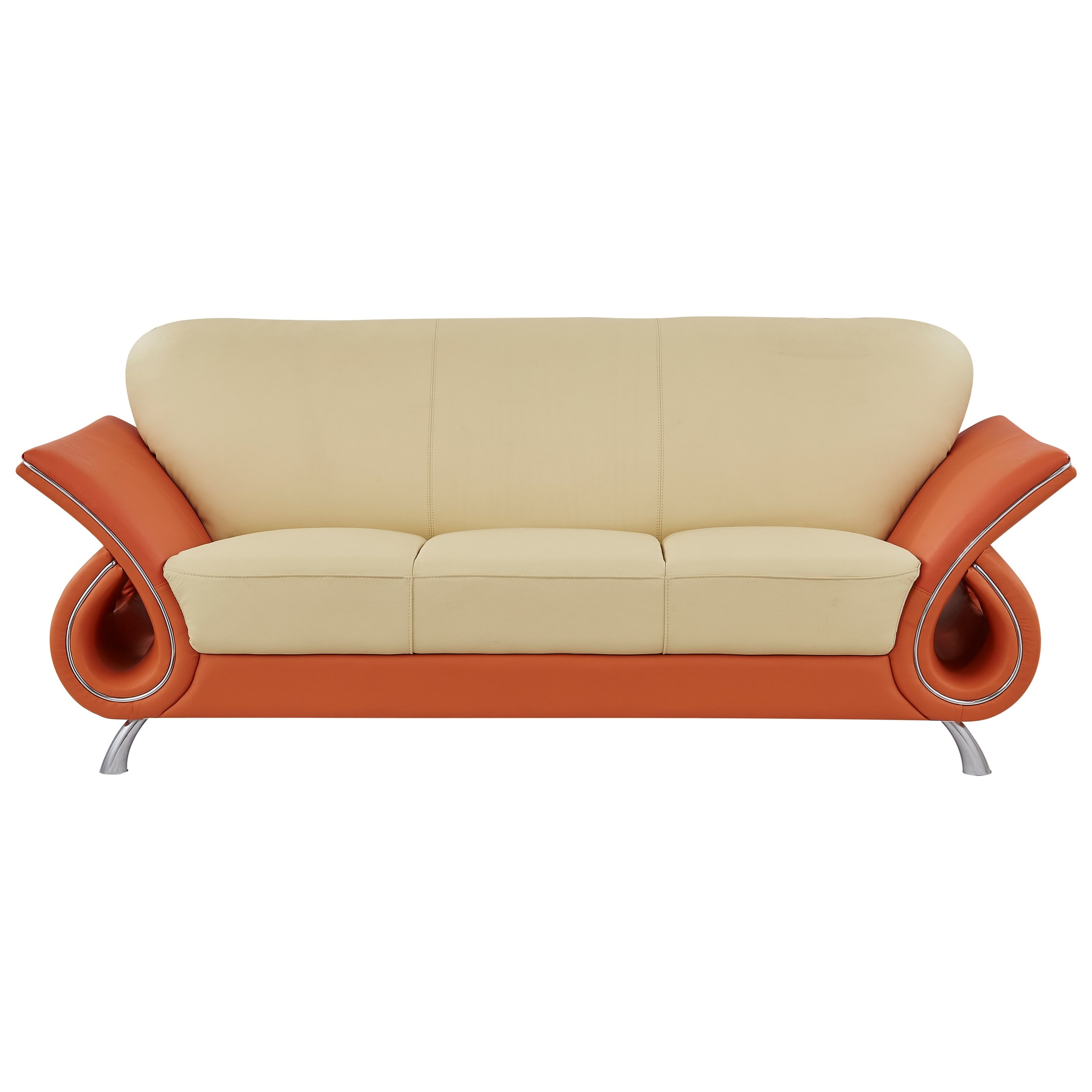U559 Sofa with Flared Arms by Global Furniture at Nassau Furniture and Mattress