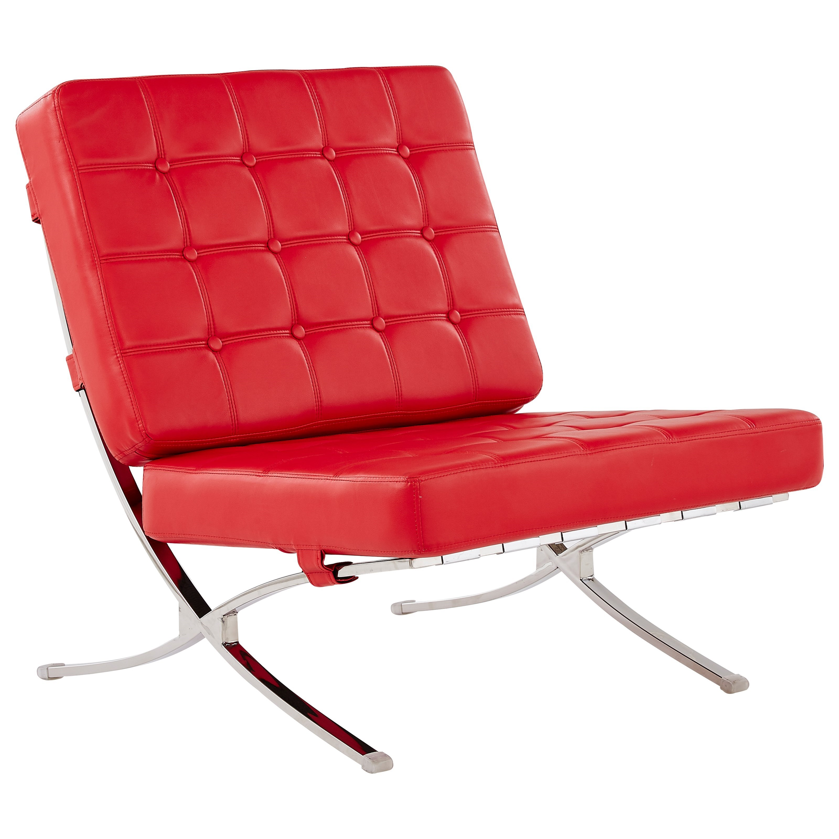 U6293 Tufted Chair With Chrome Frame by Global Furniture at Corner Furniture